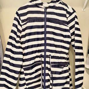 ASOS [light striped rain jacket]